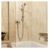 Bristan Prism Exposed Single Control Shower With Adjustable Riser (PM2 SQSHXAR C)