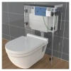 Dudley Vantage Single Flush Concealed Cistern With 46mm Royal Button