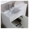 Hygienic Bathrooms Aron Grey Gloss WC Basin Vanity Unit H810 x W1100mm (Left Hand)