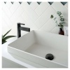 Vado Edit Brushed Black Mono Basin Mixer (IND-EDI100/SB-BLK)