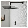 Vado Individual Brushed Black Square Easy Fit Shower Arm (IND-EFSA/SQ-BLK)