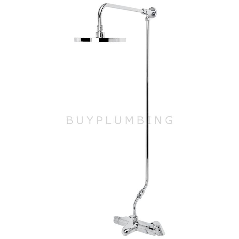 Bristan Assure Thermostatic TMV2 Bath Shower Mixer With Rigid Riser (AS2 WMT THBSM KIT C)