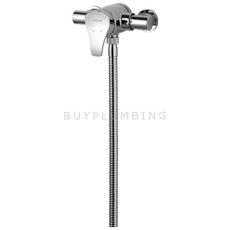 Bristan Capri Thermostatic Exposed Single Control Mini Valve With Adjustable Riser Kit & Single Function Handset