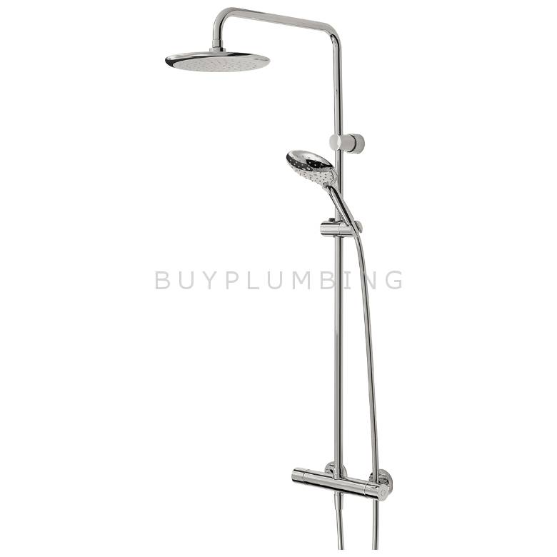 Bristan Claret Thermostatic Bar Shower With Rigid Riser (CLR SHXDIVFF C)