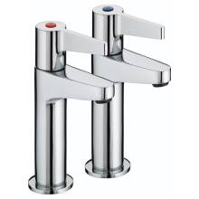 Bristan Design Utility Lever High Neck Kitchen Sink Pillar Taps