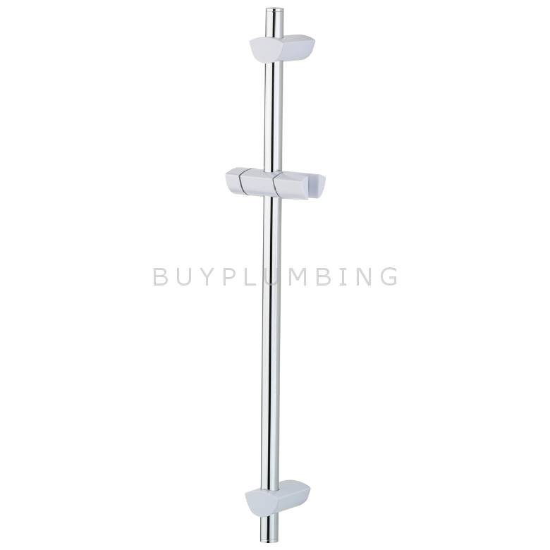 Bristan Evo Riser Rail With Adjustable Fixing Brackets (White/Chrome)
