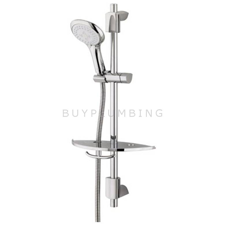 Bristan Shower Kit With 3 Function Rub Clean Handset & Shelf (EVF KIT03 C)