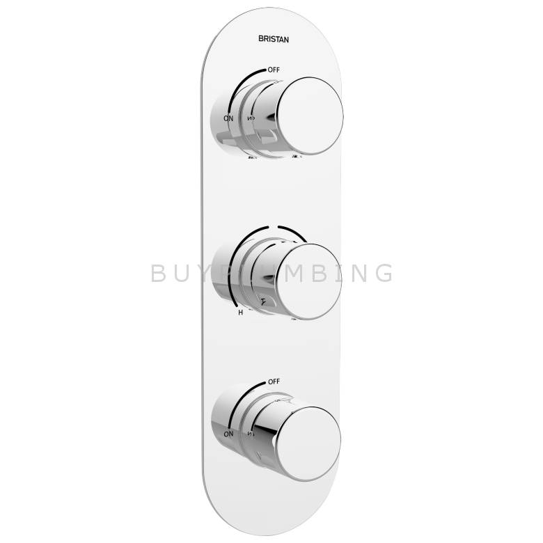 Bristan Exodus Recessed Concealed Shower Valve With Twin Stopcocks (EXD SHC3STP C)