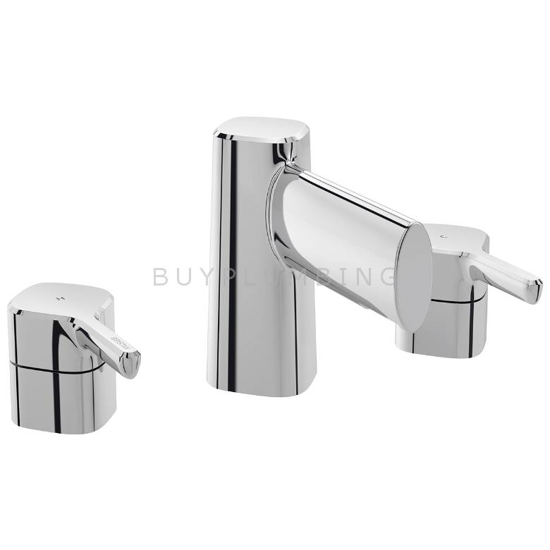 Bristan Flute 3 Hole Basin Mixer With Clicker Waste (FLT 3HBAS C)