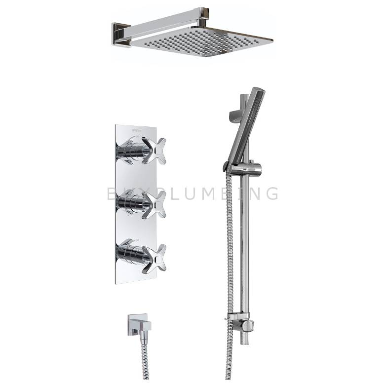 Bristan Glorious Shower Pack With Fixed Head & Kit (GLORIOUS SHWR PK)