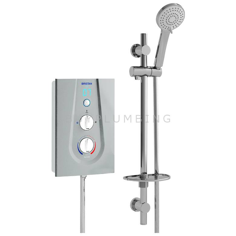 Bristan Joy Electric Shower 9.5kW (Metallic Silver) (JOYT395 MS)
