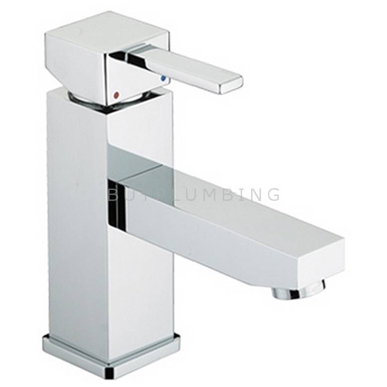Bristan Quadrato Basin Mixer With Eco-Click