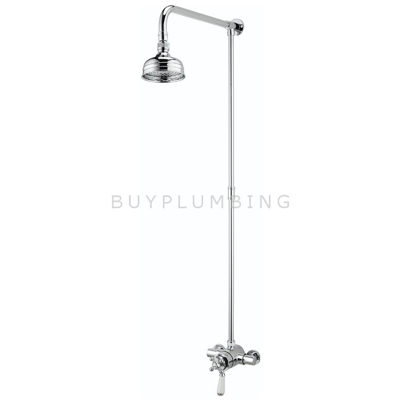 Bristan Regency Exposed Mini Valve Shower With Rigid Riser (R2 SHXRR C)