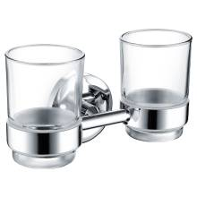 Bristan Solo Double Glass Tumbler & Holder