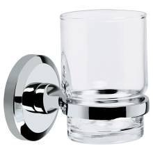 Bristan Solo Glass Tumbler & Holder