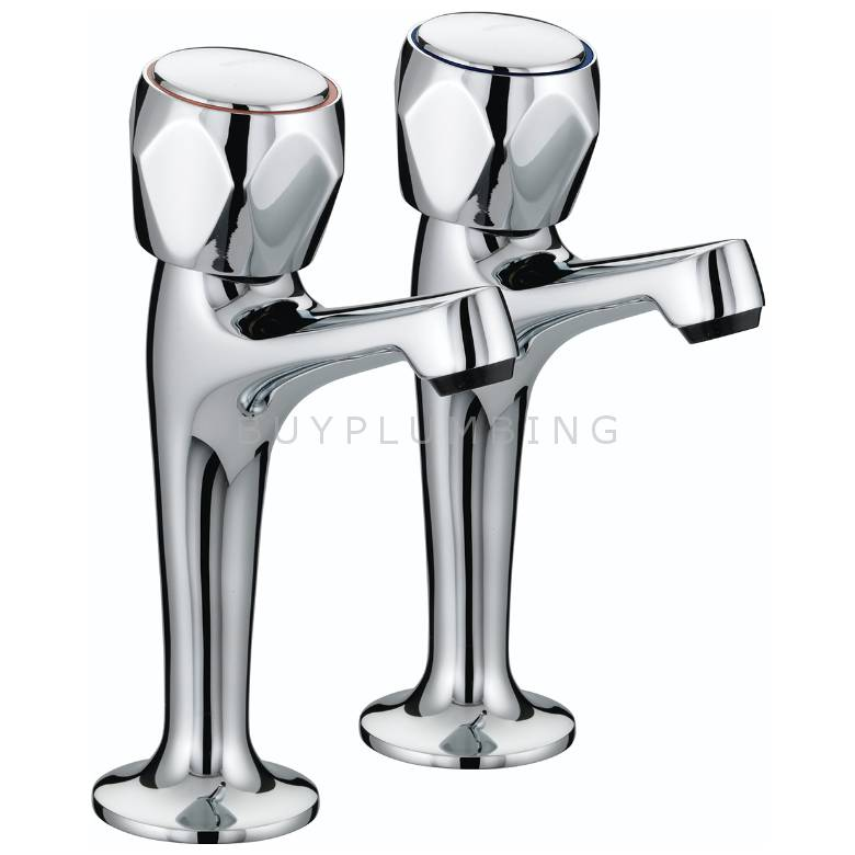 Bristan Club High Neck Kitchen Sink Pillar Taps