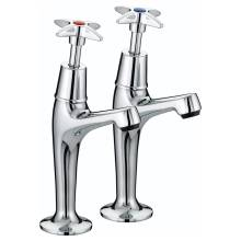 X-Head High Neck Kitchen Sink Pillar Taps