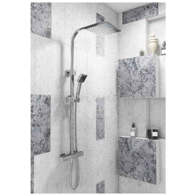 Cassellie Elite Square Thermostatic Shower Set