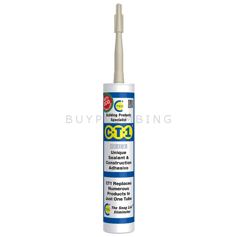 C-Tec CT1 Beige Unique Sealant & Construction Adhesive (290ml)