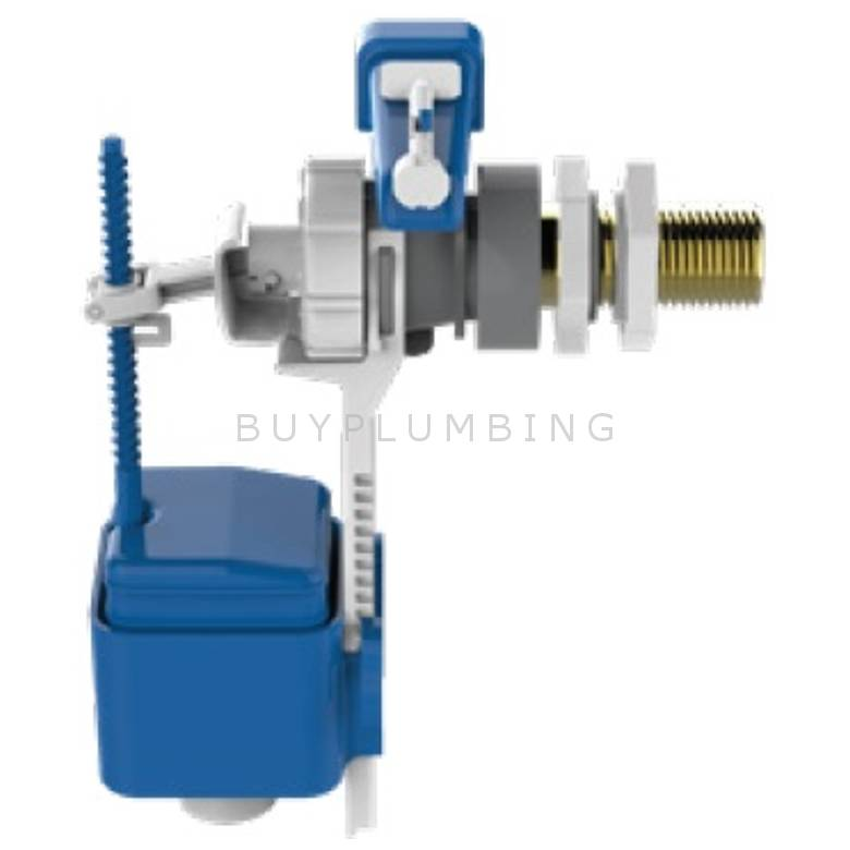 Dudley Side Entry Cistern Delay Fill Float Valve With Brass Tail