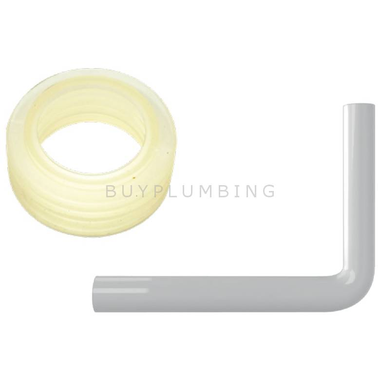Dudley Push Fit Flush Bend & Clear Cone For Vantage Concealed Cistern (FPVANTNEW)
