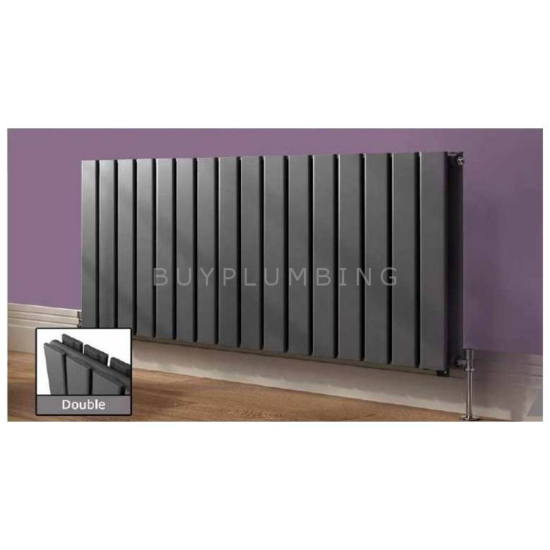 Euro Heating Arona Designer Horizontal Double Radiator 600 x 1020mm (Anthracite)