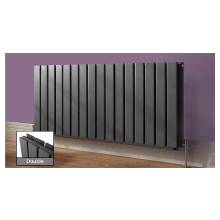 Euro Heating Arona Designer Horizontal Double Radiator 600 x 1156mm (Anthracite)