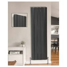 Euro Heating Belgravia Aluminium Designer Vertical Double Radiator H1800 x W420mm (Anthracite) (BELG1842A)