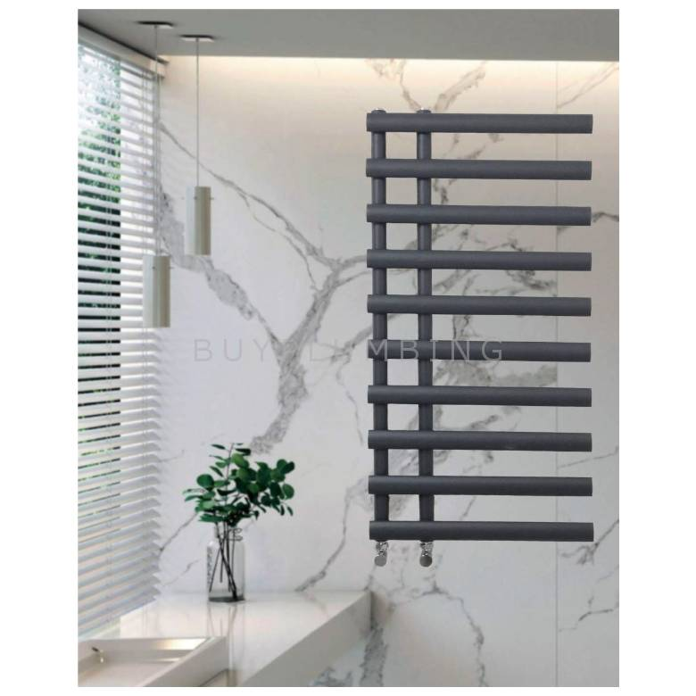 Euro Heating Chicago Designer Towel Warmer Radiator H1130 x W500mm (Anthracite) (CH1250A)