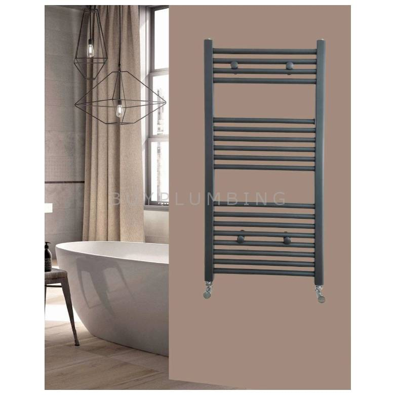 Euro Heating Opal Standard Towel Rail Radiator H1200 x W600mm (Anthracite)