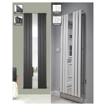 Euro Heating Flair Designer Vertical Single Radiator 1800 x 500mm With Mirror (Anthracite)