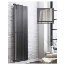 Euro Heating Hampstead Designer Vertical Single Radiator H1800 x W456mm (Anthracite) (HAM1845SA)