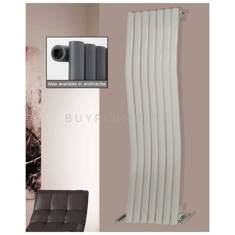 Euro Heating Kensington Designer Vertical Single Radiator 1800 x 413mm (Anthracite)