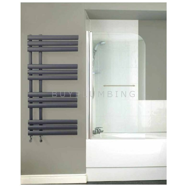 Euro Heating Los Angeles Designer Towel Warmer Radiator H1071 x W500mm (Anthracite) (LOS1250A)
