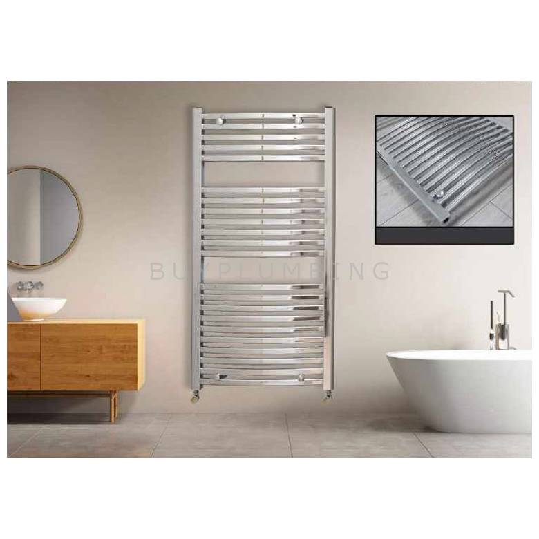 Euro Heating Opal Standard Curved Towel Rail Radiator 1200 x 400mm