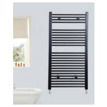 Euro Heating Opal Standard Towel Rail Radiator 1200 x 600mm (Black)