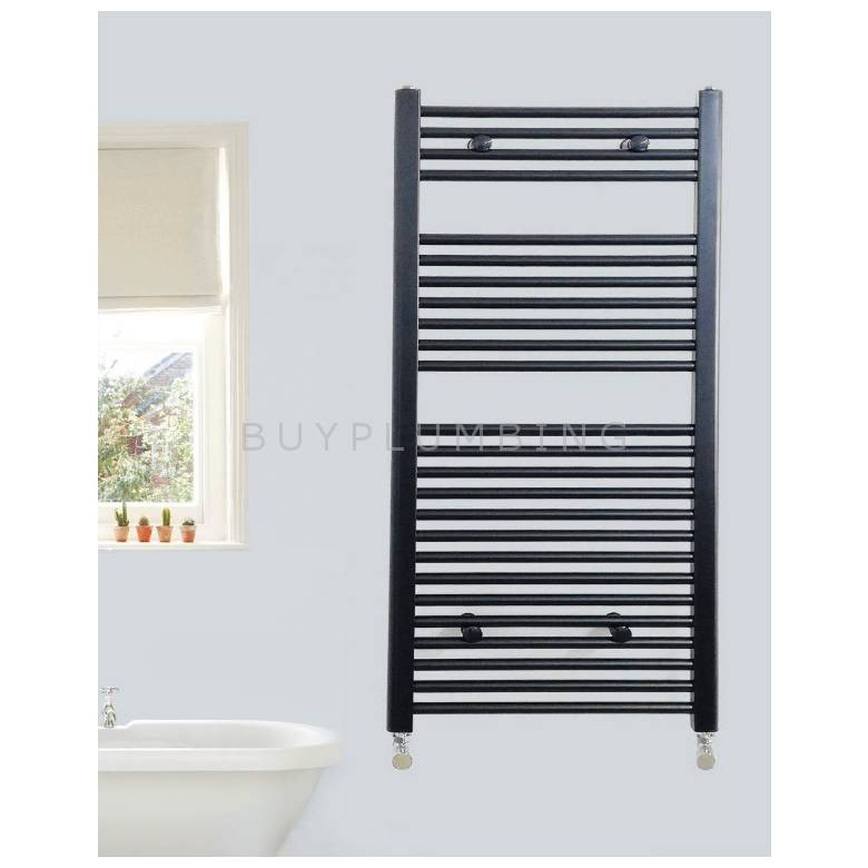 Euro Heating Opal Standard Towel Rail Radiator 800 x 400mm (Black)