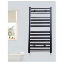 Euro Heating Opal Standard Towel Rail Radiator H800 x W400mm (Black)
