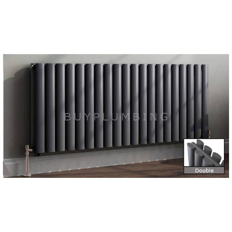Euro Heating Tosca Designer Horizontal Double Radiator H600 x W1062mm (Anthracite)