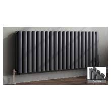 Euro Heating Tosca Designer Horizontal Double Radiator 600 x 1062mm (Anthracite)
