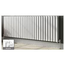Euro Heating Tosca Designer Horizontal Double Radiator 600 x 1180mm (White)