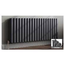Euro Heating Tosca Designer Horizontal Double Radiator 600 x 1416mm (Anthracite)