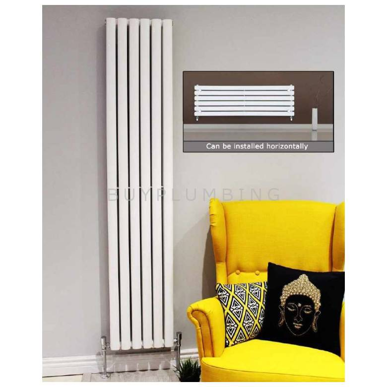 Euro Heating Tosca Designer Vertical Double Radiator H1800 x W236mm (White) (TS1823DW)