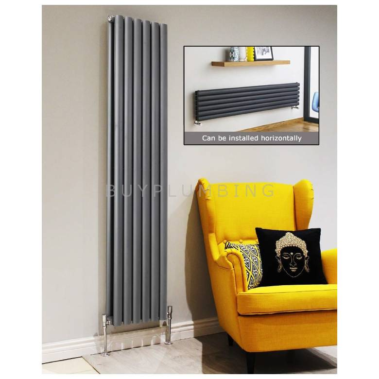 Euro Heating Tosca Designer Vertical Double Radiator 1800 x 354mm (Anthracite)