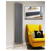 Euro Heating Tosca Designer Vertical Double Radiator 1800 x 472mm (Anthracite)