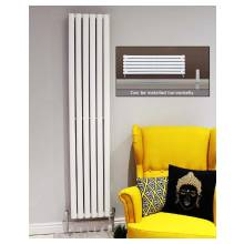 Euro Heating Tosca Designer Vertical Double Radiator 1800 x 472mm (White)