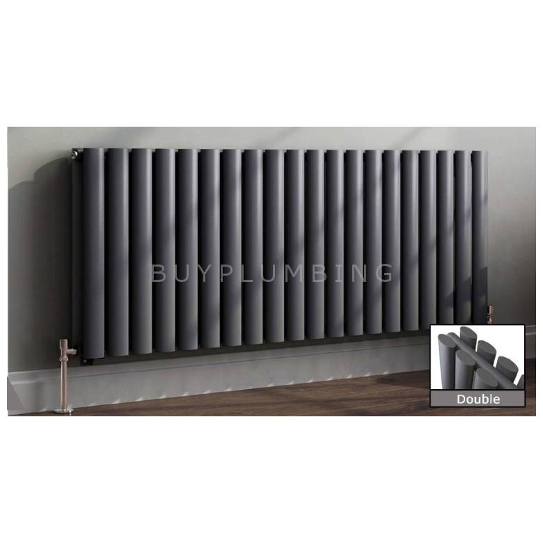 Euro Heating Tosca Designer Horizontal Double Radiator H600 x W590mm (Anthracite)