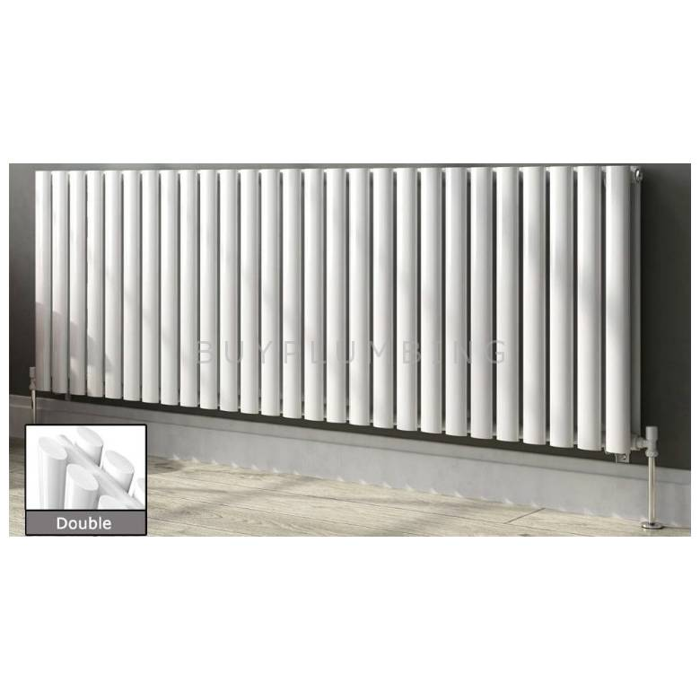 Euro Heating Tosca Designer Horizontal Double Radiator 600 x 826mm (White)