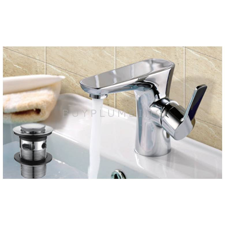 Hygienic Bathrooms Mono Basin Mixer With Sprung Waste