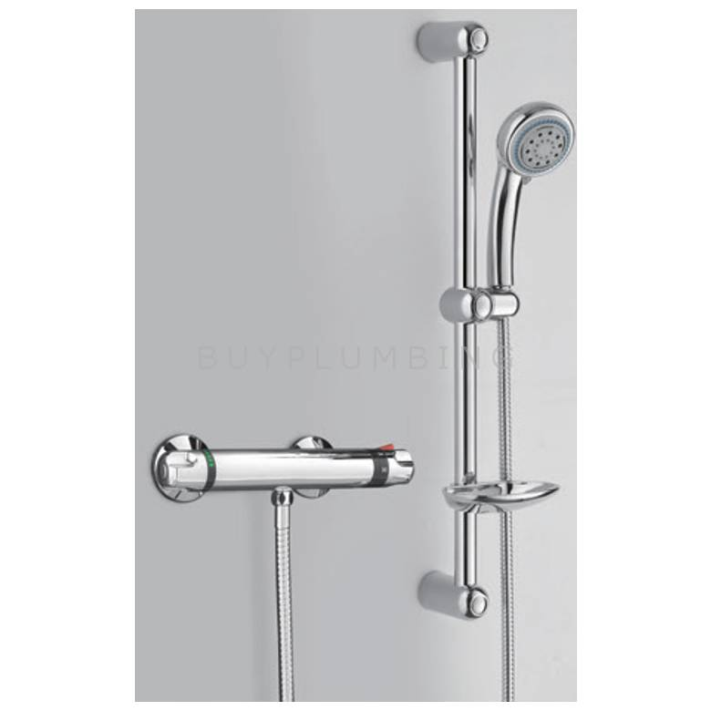 Hygienic Bathrooms Thermostatic Shower Mixer With Slide Rail Kit
